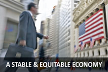 Stable and Equitable Economy