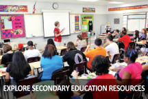 Explore Secondary Education Resources