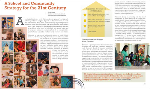 Read the Coalition for Community Schools essay